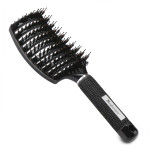 Segbeauty Black Boar Bristle Vented Hair Brush Hair Nylon Detangling Pins Vented Curly Hair Care Scalp Massager