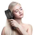 Black Boar Bristle Hair Brush