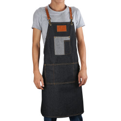 Segbeauty Adjustable Full Length Denim Work Apron 31 Inches Jean Apron with Tool Pockets