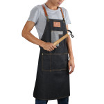Adjustable Full Length Denim Apron
