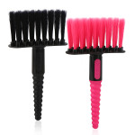 Segbeauty 2pcs Barber Neck Dust Brush Black Red Soft Bristles Light Haircut Cleaning Brush without Falling Strands