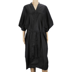 Segbeauty Salon Spa Kimono Robe Smock 43inch Long Massage Uniform_Black