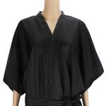 Segbeauty Salon Spa Kimono Robe Smock 43inch Long Massage Uniform_Black