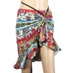 Latin Salsa Belly Dance Dress with Asymmetrical Ruffle --  Bohemian Style