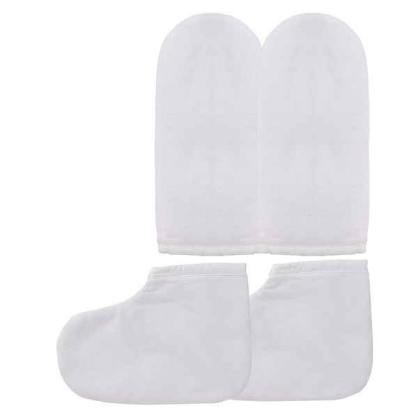 Paraffin Wax Bath Terry Cloth Gloves Booties