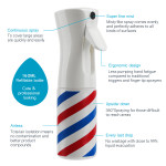Segbeauty Ultra Fine 360° Mist Continuous Spray Bottle -- Stripe