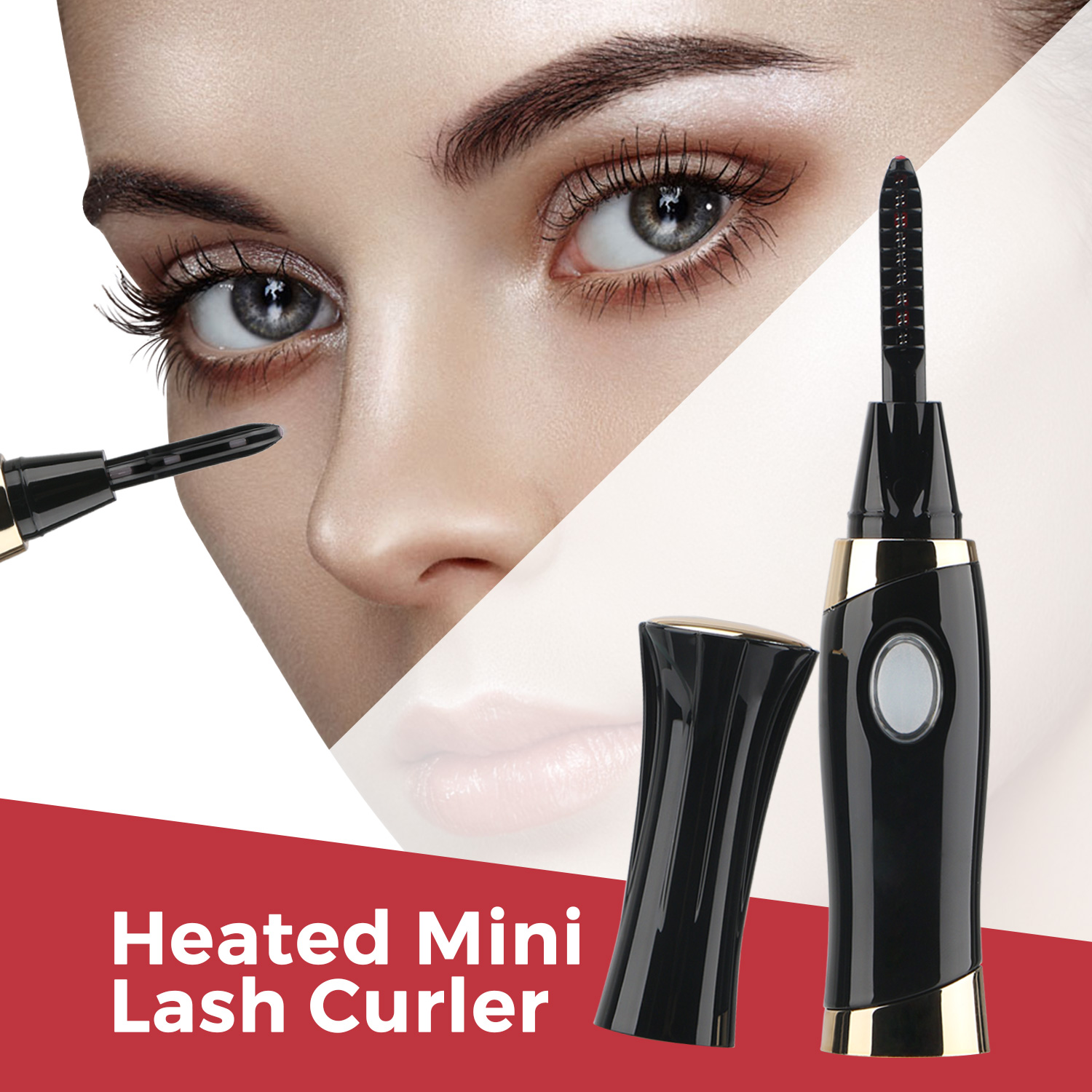 Segbeauty Professional Electric Heated Eyelash Curler Wand