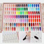 Segbeauty 126 Colors Nail Display Book Nail Polish Colors Chart with 144 False Nail Tips Salon Art  Display Card