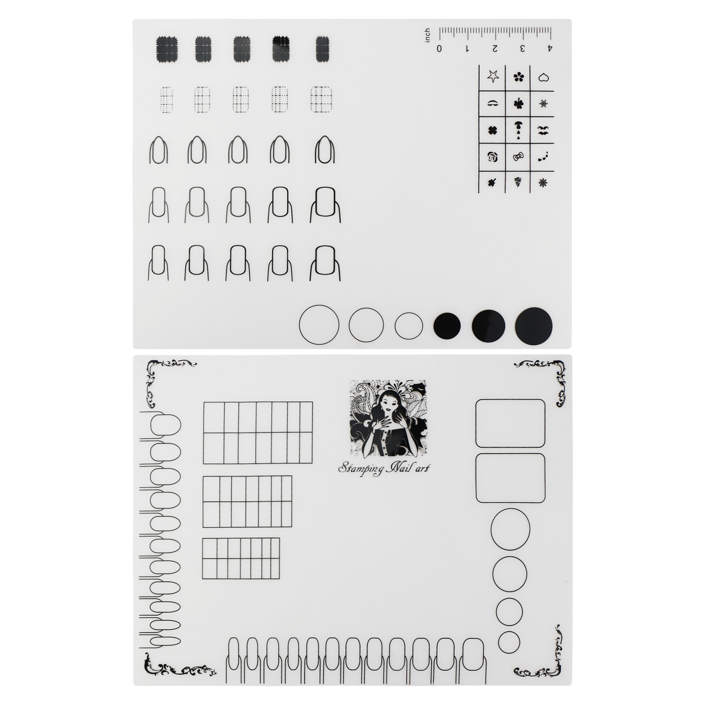 Nail Art Stamping Mat Silicone Workspace Stamping Plate Nail Polish ...