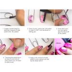 Nail Art Stamping Mat Nail Polish Coloring Practice Pad Silicone Nail Sticker Guide Printing
