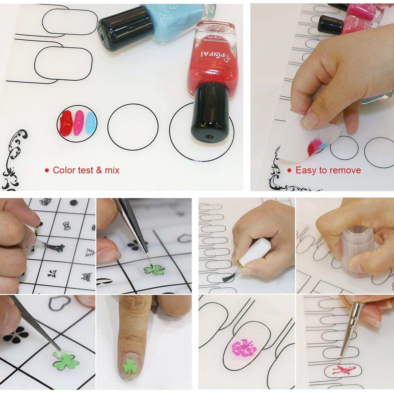 Nail Art Stamping Mat Silicone Workspace Stamping Plate Nail Polish