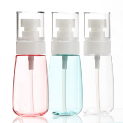 3pcs 60ml/2oz Airless Fine Mist Spray Bottles Refillable Travel Makeup Containers