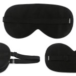Mulberry Silk Sleep Mask Black Super Soft Eye Masks Blindfold, Pack of 2