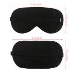 Mulberry Silk Sleep Mask Black Super Soft Eye Masks Blindfold, Pack of 2