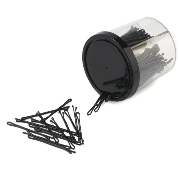 200PCS 2Inch Slim Bobby Pins, 50MM Invisible Metal Hair Clips -- Black