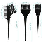 7pcs Feather Bristles Hair Color Tint Brushes and Combs