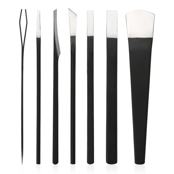 Professional Pedicure Knife Set 7PCS with Storage Bag