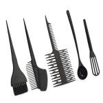 Segbeauty 6pcs Hair Highlighting Set Hair Color Mixing Kit For Hairdressing Dyeing Tint Brush Comb Bowl Tool
