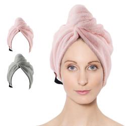 Dry Wet Hair Cap, Quick Dry Ultra Absorbent Microfiber Turban Wrap