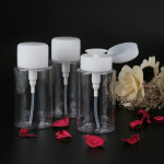 3pcs Makeup Organizer Travel Bottles, 6.76oz/200ML Segbeauty Pump Dispenser Bottle for Cosmetic Containers