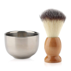 Segbeauty Beard Lather Brush, Beard Shaving Soap Bowl,Traditional Wet Shaving Kit