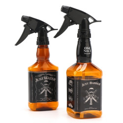 Segbeauty 2 Pack 250ml/500ml Whisky Squirt Fine Mist Water Hair Spray Bottle Retro Barber Hair Salon Water Trigger Sprayer