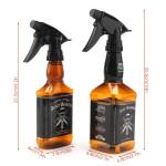 Segbeauty 2 Pack 250ml/500ml Whisky Squirt Fine Mist Water Hair Spray Bottle Retro Barber Hair Salon Water Trigger Sprayer