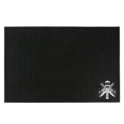 Segbeauty Salon Black Barber Station Mats For Clippers Flexible PVC Nonslip Material Barber Shop Work Salon Tools