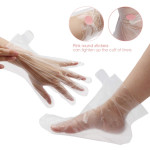 Segbeauty Paraffin Bath Liners, 200 Count Plastic Pro Cozies Liners for Hand & Foot Paraffin Bath Wax Therapy Bags