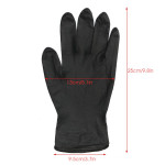 Segbeauty Black Reusable Rubber Gloves,20 Counts Hair Dye Gloves