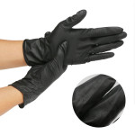 Segbeauty 20 Counts Hair Dye Gloves Black Reusable Rubber Gloves Professional Hair Coloring Accessories