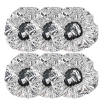 6Pcs Salon Aluminum Foil Hair Cap,Beauty Shower Cap for Long Thick Hair, Home and Salon Uses