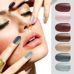 Segbeauty 72pcs False Nails Pointed Fake Nail Full Cover Sky Nail Art Decoration Tips Manicure Beauty Tools with 6pcs Nails File