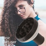 Segbeauty Upgraded Hair Dryer Diffuser for Curly Wavy Hair Salon Frizz-free Diffuser Attachment for Blower_Ivory