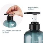Segbeauty 3pcs 500ml Bathroom Shampoo Bottle Press Type Lotion Liquid Soap Dispenser Shower Gel Conditioner_Blue