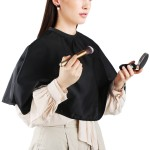 Segbeauty Salon Makeup Beauty Cloth Waterproof Barber Makeup Cape Comb Out Cape with Adjustable Hook and Loop Closure