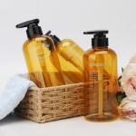 Segbeauty 3pcs Shower Bottles Large Capacity 500ml Bathroom Liquid Soap Dispenser Shower Gel Empty Bottle_Brown