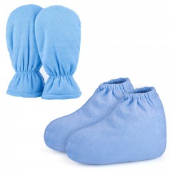 Segbeauty Paraffin Wax Protection SPA Bath Gloves and Booties Therapy Warmer Heater Care Treatment_Blue