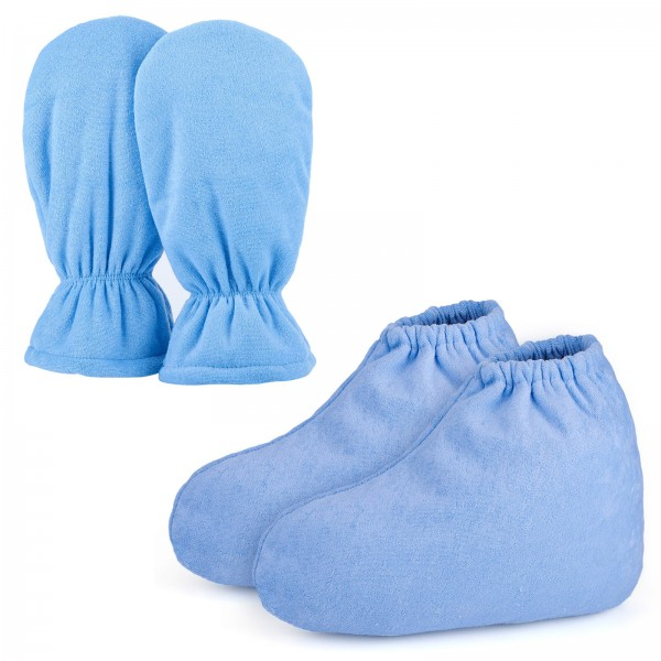 Segbeauty Blue Paraffin Wax Protection SPA Bath Gloves and Booties Therapy Warmer Heater Care Treatment