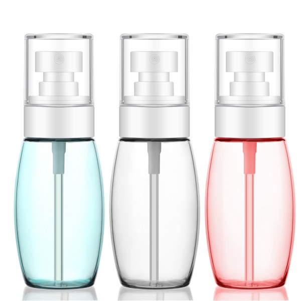 Segbeauty 3pcs 1oz/2oz/3.4oz Spray Bottles TSA-approved Travel Size Fine Mist Plastic Sprayer Bottle