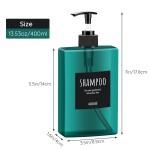 Segbeauty 3pcs Shampoo Dispenser Bottles 400ml Refillable Pump Bottle Empty Shampoo Body Soap Conditioner