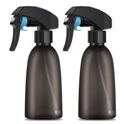 Segbeauty 2 Pack 200ml Spray Bottle All Angle Upside Down Fine Mist Spray Bottles Plastic Leak-proof Misting Trigger Bottle
