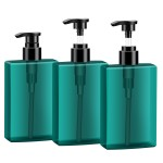 Segbeauty 3pcs 200ml Refillable Shampoo Pump Bottles Soap Dispenser Bottle for Body Wash Lotion Shampoo Conditioner