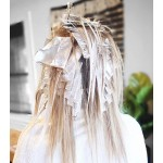 Segbeauty 150 Counts Hair Dyeing Pop-up Foils Aluminum Foil Sheets Salon Embossed Pre-cut Highlighting Foils for Balayage Bleaching