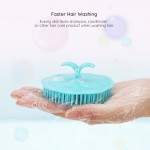 Segbeauty 4pcs Shampoo Brush Scalp Massage Brush Adult Soft Glue Bathroom Shower Head Body Massager
