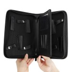 Segbeauty Barber Scissors Case Hairdresser PU Leather Carrying Bag Portable Travel Hair Styling Cutting Tool Kit