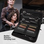 Segbeauty Hair Scissor Bag PU Leather Big Space Salon Hair Comb Shear Pouch Holder Case Barber Hairdressing Storage Tool