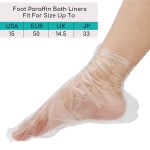Segbeauty 400pcs Thicker Larger Paraffin Wax Therapy Liners Foot Spa Paraffin Bags Plastic Mitts Socks Hot Wax Treatment Booties Covers