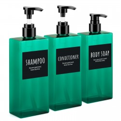 Segbeauty 3pcs 400ml Soap Dispense Bathroom Shower Gel Refillable Shampoo Bottle Wash Hair Conditioner Lotions Press Dispenser