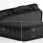 Segbeauty Barber Tool Bag 11.8 x 8.5in PU Leather Travel Makeup Toiletry Carrying Case Hair Storage Organizer